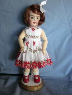 Christmas Hankie Dress for Bleuette Doll | eBay