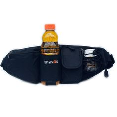 Idea Life Multifunctional Waist Pack with Water Bottle Holder,Black (Bottle is Excluded). Durable quality nylon materials is resistant to abrasion, SBS zipper puller. Daily waist pack,one pocket for cellphone,another pocket for cash and cards,third pocket and one extra zipper with mesh pocket for everything else,one water bottle holder. Multifuntionable,comfortable and portable for outside activites: running,cycling,travelling and so on. Bag Size:16.53 inches lenght,5.9 inches height…