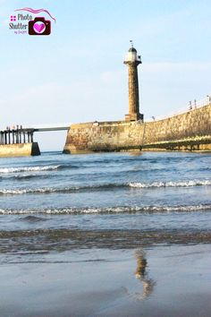 Here's the lighthouse in Whitby harbour.