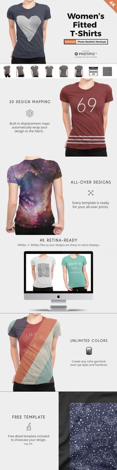 Women's T-Shirt Apparel Mockups #template #abstract #etsy #poster #mock-up #shammockup #seaside #pillowcases #beddingcollectiom #mockup #templates #printed #mock #bedclothes #realistic #silk #surface #home #mockupkit Free Design, Your Design, Shirt Template, High Quality T Shirts, Mockup Templates, 4k Hd, Looks Great, Print Design, Bedding