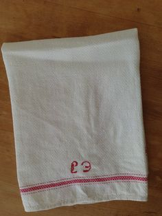 Homespun Monogramed Towel by WesternReserve on Etsy, $29.00