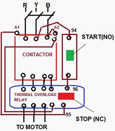 how to wire a compressor with overload contactor - Google Search