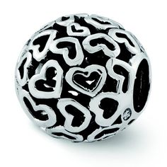 Sterling Silver Reflections Hearts Bali Bead * Check out this great image  : Jewelry Charm Bracelets