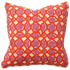 Balance Fuschia Print with Orange Embroidery Pillow Pair from @LaylaGrayce #laylagrayce #destination #marrakech