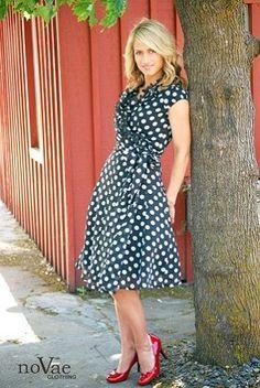 Polka Dot & Ruffles on a DRESS! :)  #modest clothing