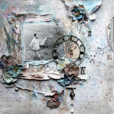 Maja Design scrapbooking paper, My granddad- my angel  http://saintshapelart.com/?p=3327