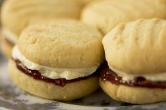 Monte Carlos Biscuits Monte Carlo Biscuits, Whoppie Pies, Melting Moments, Anzac Biscuits, Sandwich Cookies, Homeland, Sweet Recipes, Baking Recipes, Sandwiches