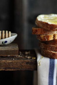 bread, butter & honey - the best snack ever