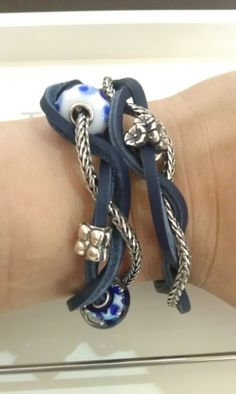 Braided Blues 2-a great design from a TrollbeadsGallery Forum member!!