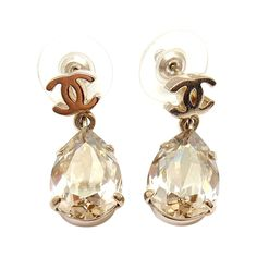 CHANEL French Couture 2012 Collection Crystal Teardrop Earrings