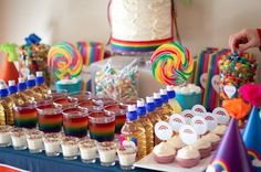 Rainbow Party table