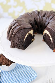 Ribboned Fudge Bundt Cake | Easy Chocolate Desserts for a Crowd