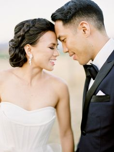 Photography : Coco Tran | Grooms Attire : Indochino | Wedding Dress : Vera Wang Read More on SMP: http://www.stylemepretty.com/2015/12/10/organic-elegant-napa-wedding-at-carneros-inn-part-ii/