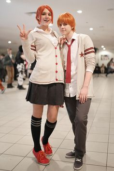 Risa Koizumi and Atsushi Ōtani - Lovely Complex Cosplay Anime, Best Cosplay, Awesome Cosplay, Koizumi Risa, Lovely Complex Anime, Cosplay Tutorial, Bishounen, Fantastic Art, Shiro