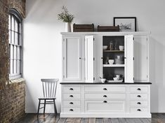Made-to-measure timber cabinetry for classic and contemporary kitchens. Explore what lies behind a Neptune kitchen online or in-store. Kitchen Dresser, Kitchen Cabinetry, Kitchen Shelves, Kitchen Furniture, Soapstone Kitchen, Shaker Kitchen, Kitchen Larder, Barn Kitchen, Cupboards