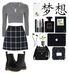 """""""What The Feck?"""" by killatimexo ❤ liked on Polyvore featuring Oasis, Glamorous, Casetify, Dr. Martens, Urban Outfitters, Chanel, NARS Cosmetics, Christian Dior and MICHAEL Michael Kors"""