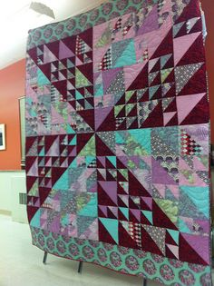 A Tula Pink quilt by nkiblueeyes
