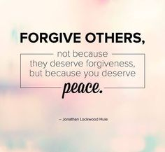 Forgive....
