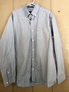 Eddie Bauer Men's Shirt Button Down LS Wrinkle Resistant Relaxed Fit Size XL #EddieBauer