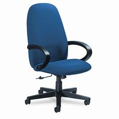 Global Total Office Enterprise High-Back Pneumatic Office Chair with Fixed Height Loop Arms Upholstery: