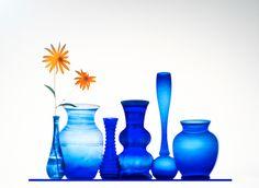 cobalt blue and orange