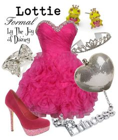 Formal outfit inspired by Lottie from Princess and the Frog!