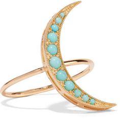 Andrea Fohrman - 18-karat Gold Turquoise Ring