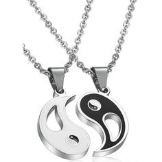 Blowin 2pcs Stainless Steel Bestfriend Yin Yang Pendant Necklace for... (3.980 CLP) ❤ liked on Polyvore featuring men's fashion, men's jewelry, men's necklaces, mens yin yang necklace and mens stainless steel necklace #men'sjewelry