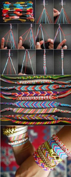 DIY friendship bracelets...send to Sangram or African aids clinic for them to sell for fundraising.