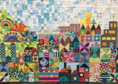 Wendy's quilts and more: My Small World - it's finished!