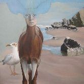 Rebecca Haines, Deer on the Beach
