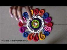 Colourful and innovative Diwali special rangoli design .by DEEPIKA PANT Easy Rangoli Patterns, Rangoli Borders, Rangoli Border Designs, Small Rangoli Design, Colorful Rangoli Designs, Rangoli Ideas, Rangoli Designs Diwali, Diwali Rangoli, Beautiful Rangoli Designs