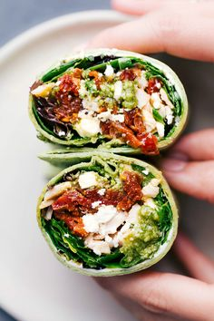 Mediterranean Wrap (7 Ingredients!) | Chelsea's Messy Apron Taco Lettuce Wraps, Salad Wraps, Banana Sandwich, Pizza Sandwich, Mediterranean Wrap, Healthy Dinners For Two, Cottage Meals, Pesto Chicken, Rotisserie Chicken