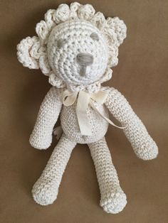 Handmade toy lion, amigurumi lion, crochet lion, kids deco, nursery deco by Sanaya321 on Etsy