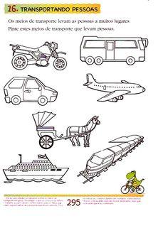 www.canal-educar.net: ATIVIDADES - TRÂNSITO Science For Kids, Geography, Worksheets, Transportation, Crafts For Kids, Preschool, Activities, Gabriel, 1