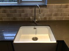 St.Albans Single Butler Sink with Mixer tap and 30mm Shitake Quartz Worktops