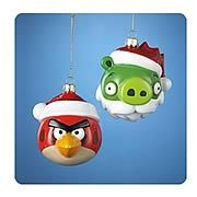 Angry Birds Glass Ornaments Case. Awesome Angry Birds holiday ornaments! These Angry Birds holiday ornaments look absolutely fantastic. With incredible attention to detail and sweet Santa Hats, these 3 1/2-inch tall ornaments are incredible! Pick up a couple for yourself right now! Ages 14 and up. This assortment includes 6 individually packaged Angry Birds Holiday Ornament, and may include the following (subject to change): Angry Red Bird Dumb Green Pig. Price: $104.99