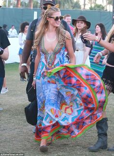 Get summer style in a multi-colored dress by Camilla like Paris #DailyMail