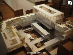 "School of Architecture ""홍영민"" Education Architecture, School Architecture, Architecture Design, Think Tank, Korea Design, Arch Model, Hospital Design, Roof Plan, Building Materials"