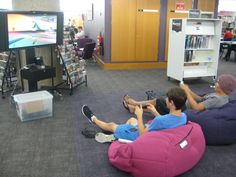 What there are people not sleeping on our beanbags... Oh they're playing the Wii Gaming console!