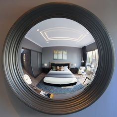 Lola is truly representative of a Reflecting Design Decorative Convex Mirror - simply, it is beautiful. This large statement mirror delivers wow. One reason Reflecting Design is first for convex and round mirrors. Convex Mirror, Mirror Art, Beveled Mirror, Large Round Mirror, Round Mirrors, Transitional Frames, Interior Design Elements, Large Frames, Beautiful Mirrors