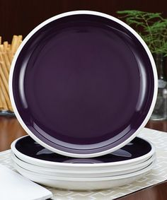 Look what I found on #zulily! Purple Rise Dinner Plate - Set of Four #zulilyfinds