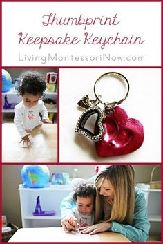 Tutorial for preparing a thumbprint keepsake keychain for a Mother's Day or teacher appreciation gift. Tutorial can be adapted for babies, toddlers, or older children.