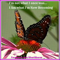 I'm not what I once was...  I am what I'm Now Becoming