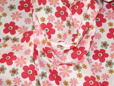 Funky Flowers Print Polycotton Dress Fabric | Fabric | Dress Fabrics | Minerva Crafts