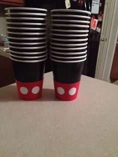 Mickey Mouse themed party cups