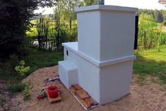 Smokehouse, Pizza Oven, Garden Grill - DIY Tutorial : 7 Steps (with Pictures) - Instructables Diy Grill, Bread Oven, Outdoor Oven, Smokehouse, Metal Hangers, Red Bricks, Diy Tutorial, Grilling, Shed