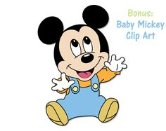 Baby Mickey Paper Pack 16 Digital Papers Baby Boy by ZAPStudios