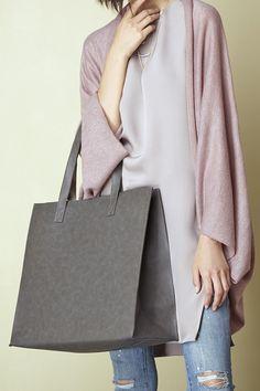Gunmetal grey shopper tote | Sole Society Becker