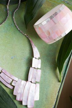 15151d57c065ad Beautiful gemstone accented cuff bracelet in vibrant colors. Pearl  Gemstone